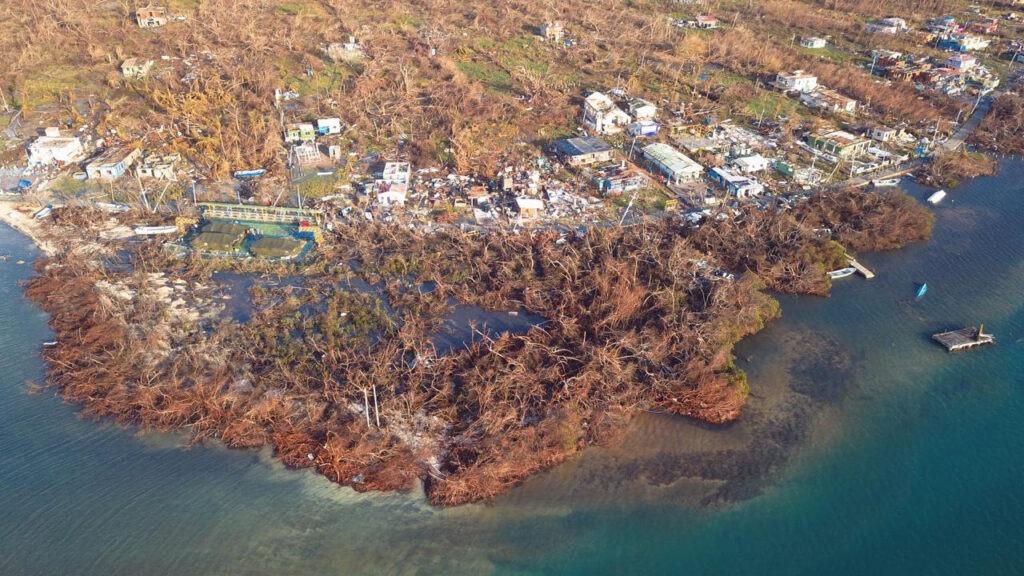 Paso del huracán IOTA por Providencia, foto IAVH