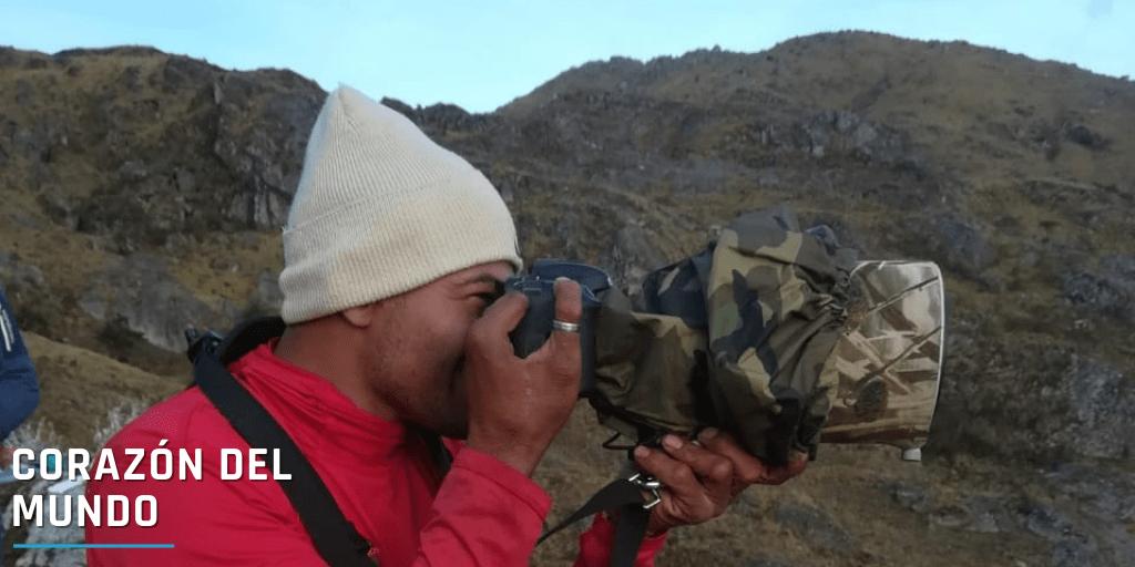 Tony Cala es un campesino de la Sierra, fotógrafo aficionado y observador de cóndores.