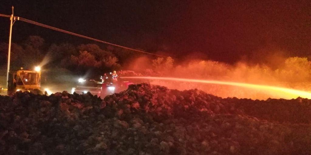 En medio del control de la protesta, área natural de La empresa Palmagro se quemó