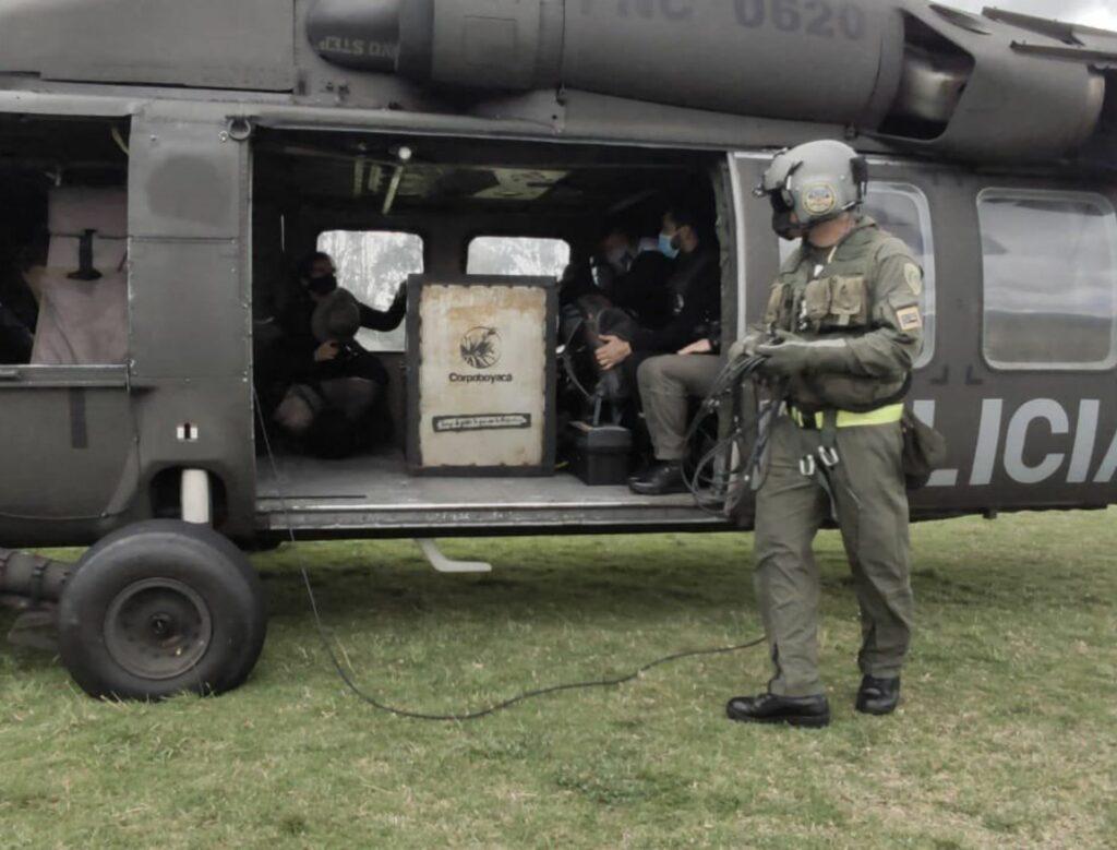 Policía Nacional, Foto Corpoboyacá