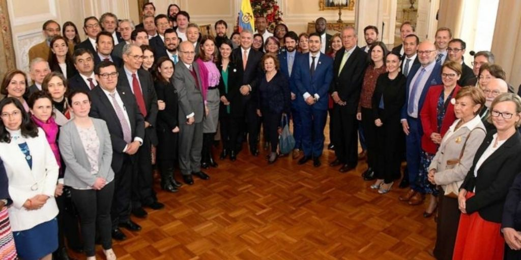 Ambientalistas colombianos reunidos con el Presidente Iván Duque en la socialización de lafirma del Acuerdo de Escazú.