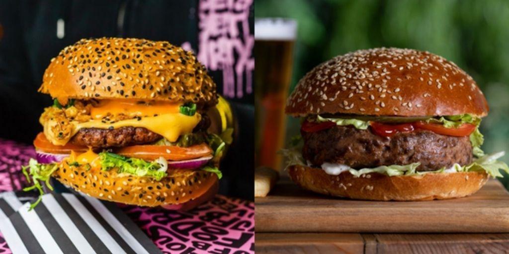 egan Junk Food Bar España (veganjunkfoodbar.spain/Instagram) y Future Meat Technologies (future-meat-technologies/LinkedIn).